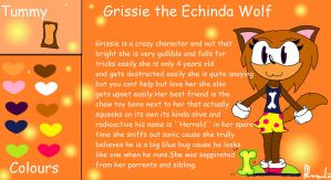 Grissie the Echinda Wolf Ref by SugarNoms