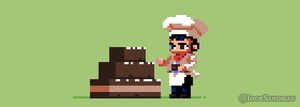 214/365 pixel art : Chocolate by igorsandman