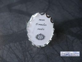 Non Timebo Mala Cabochon Ring by SpellsNSpooks