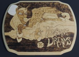 Pleasant Dreams - Wood Burning by rekibob