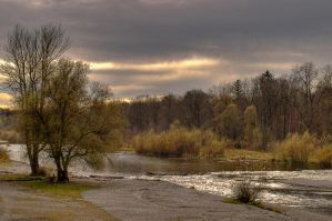 River Isar - HDR by konishkichen