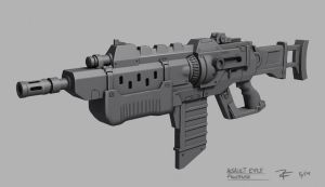 Assault Rifle Concept by ZackF