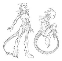 Wraith - design sketch by Mailboxed-Kitten