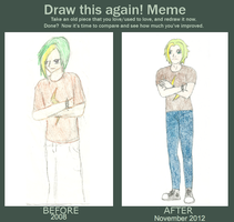 Mokoto as a Human Before and After by gir-is-me