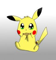 Pikachu eating a cookie by ICEDRAGON164