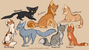 Warrior Cats Concepts sketch by HailSpirit