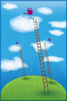 Day 41. Rain and ladders by lilvdzwan