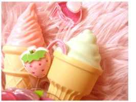 MIam ice cream cupcake kawaii by kawainess