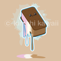 Ice Cream Sandwich by kimchikawaii