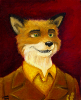 Mr. Fox - Oil Painting by wolfjedisamuel
