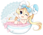 It's Bubble Pink Bath Time! by Naitei