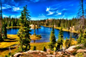 Inland Lake by uncleclick