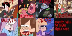 Gravity falls - Seven Deadly sins by GravityFalls1Fan