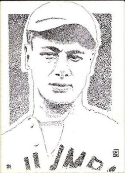 Lou Gerhig sketch card baseball by stippleartist