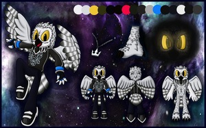 Konnen the Owl reference sheet by OrionTHedgehog
