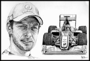 Jenson Button by Galbatore