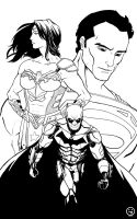 The DC Trinity INKS by AndrewKwan