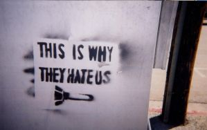 AntiWAR stencil PHOTO by crusty-punk