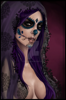 The night of the dead - SugarSkull by xMLBx