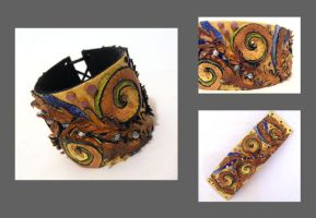 Leather bracelet. Sea theme by julishland