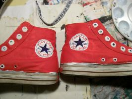 Red Converse KC by KCJoker33