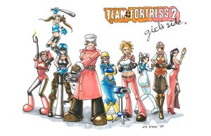 TEAM FORTRESS 2 Girls' Side by hikarikun