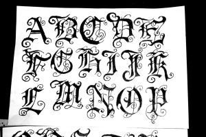 gothic font4 by ivanglas