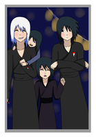 Uchiha Family at the Festival by DoctorMLoli