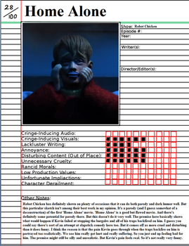 Home Alone (Robot Chicken) Notepage by johntheguy1