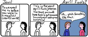 Jenni Comic 30: April Fools? by JenniBee