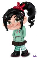 Wreck It Ralph: Vanellope by secretlyapegasus