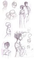 Pride and Prejudice Sketches by RedRoseQueen