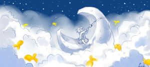 Skyfishing on the Moon by MiamoryHJ