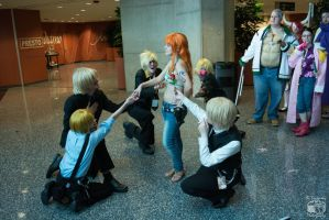 Youmacon 2015 One Piece - Sanji's and Nami by thatsthatonegirl