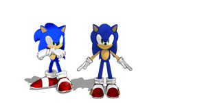 Modern Sonic MMD DL by jetknight