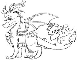 RANDOM.QUICK.SKETCH.o.SpYrO by Spyroflamesredsbum