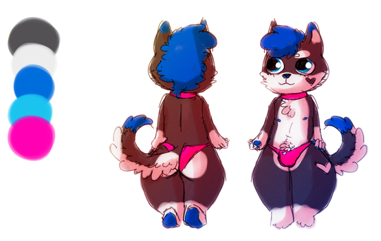 puppy ref (comm) by Ravinah
