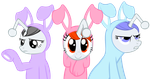 Reddit ponies dressed as Easter bunnies by FabulousPony