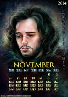 Jon Snow_November_calendar2014 by manulys