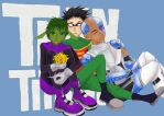 Teen titans boys by AkaMelon