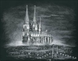 Koln Cathedral by AndreaWidgetArt