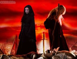 Morgana and Emrys.. by MagicalPictureMaker