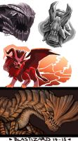 Monstrous sketches by JuneCat