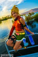 Rikku Railing Around by Royal-Blue-Cosplay