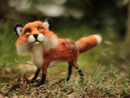 Poseable Fox Sculpture by DeadLulu