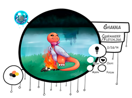 [ PKMNation ] Ghaana the Charmander/Fletchling by GooMama