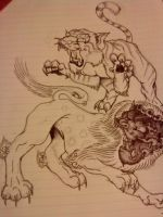 Tiger and foo dog trial by natfink93