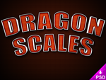Dragon Scales Text Style by thislooksgreat
