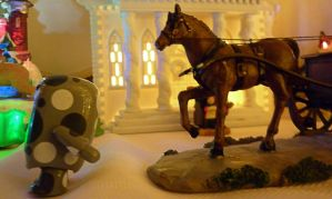 Spotty Is Being Chased By Horse by Veronyak