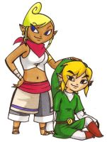 Adult Tetra and Link...Again by BeagleTsuin